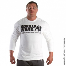 RUBBER PRINTED LONG SLEEVE (PURE WHITE) [XXXL]