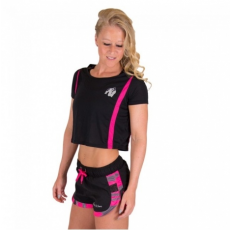 COLUMBIA CROP TOP (BLACK/PINK) [L]