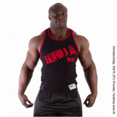 STAMINA  RIB TANK TOP (BLACK/TANGO RED) [XXL]