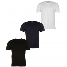 Donnay Three Pack férfi V nyakú póló fekete 3XL