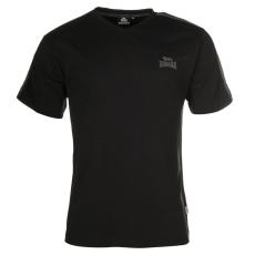 Lonsdale 2 Stripe férfi V nyakú póló fekete XL