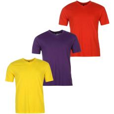 Donnay Three Pack férfi V nyakú póló piros XL