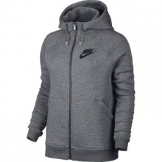 Nike Rally női kapucnis felső, Carbon Heather/Grey, S (803601-091-S)