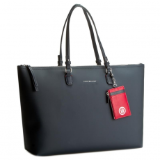 Tommy Hilfiger Táska TOMMY HILFIGER - Love Tommy Reversible Tote Check AW0AW03307 905