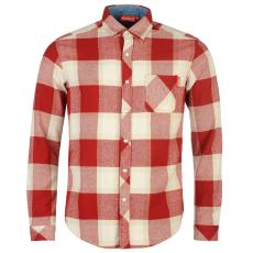 Kickers Flannel férfi hosszú pamut ing piros kockás M