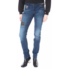 Desigual Dark Wash Farmernadrág