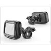 Haffner Univerzális kerékpárra/motorkerékpárra szerelhető, por- és cseppálló telefontartó - XXL méret - fekete