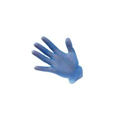 (A905) Vinyl egyszerhasználatos kesztyű, púdermentes kék (100db)