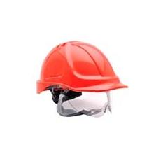 (PW55) Endurance védősisak védőszemüveggel piros