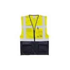 (C476) Vezetőmellény EN 471 sárga/sötétkék
