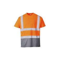 (S378) Narancs-szürke jól láthatósági pólóing