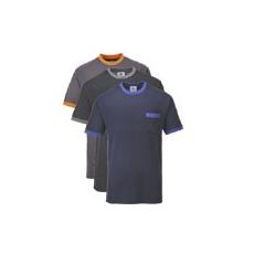 (TX22) Texo kontraszt póló fekete