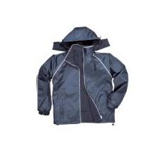 (S419) Kifordítható dzseki, polár belsővel sötétkék