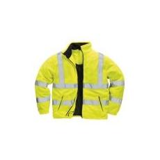 (F300) Jólláthatósági  polár pulóver sárga