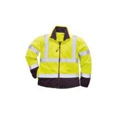 (F301) Jól láthatósági kontraszt polár pulóver sárga/sötétkék