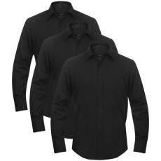 3 db férfi üzleti ing méret L fekete