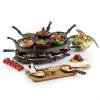 oneConcept oneConcept Woklette asztali grillező, raclette grillező, wok készlet, 1200 W, 8 személy, tapadásmentes