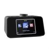 Auna auna i-snooze, fekete, internetrádió, rádió ébresztőóra, WLAN, USB, színes 3,2