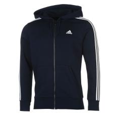 Adidas Essentials 3 Stripe Logo férfi kapucnis pulóver tengerészkék S