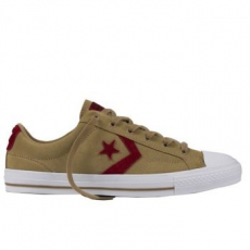 Converse Star Player Ox Leather Unisex tornacipő, Sandy/Red Block, 43 (153755C-138-9.5)