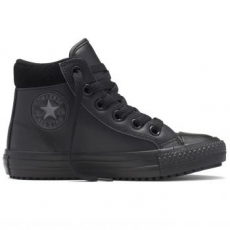 Converse Chuck Taylor All Star Boot Hi Leather gyerek tornacipő, Black/Thunder, 27 (654312C-001-10.5)
