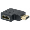 MANHATTAN HDMI - HDMI adapter, F/M, bal 90°, MANHATTAN