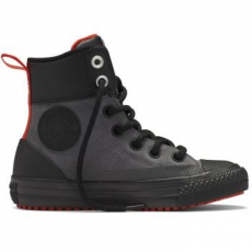 Converse Chuck Taylor All Star Asphalt Boot Hi Leather Gyerek Tornacipő, Thunder/Red, 35 (654314C-031-3)