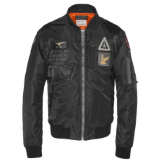 SCHOTT Airforce2 Bomber Jacket - fekete