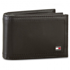 Tommy Hilfiger Kis női pénztárca TOMMY HILFIGER - Harry Mini Cc Flap And Coin Pocket AM0AM01257 Black 002