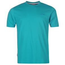 Slazenger Plain férfi kerek nyakú póló türkiz L