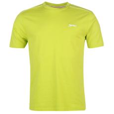 Slazenger Plain férfi kerek nyakú póló lime XL