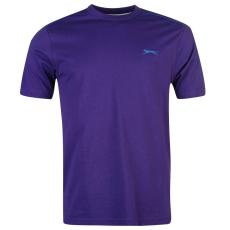 Slazenger Plain férfi kerek nyakú póló lila 3XL