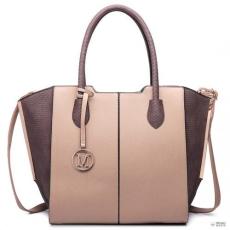 Miss Lulu London LT6625- Miss Lulu női nagyméretű bevásárló táska táska szintetikus bőr tan