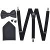 Férfi szmoking kiegészítők- nadrágtartó & nyakkendő szett fekete