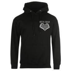 Official BandT Neck Deep férfi kapucnis pulóver fekete S