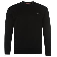 Slazenger Férfi kerek nyakú pulóver fekete 3XL