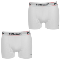 Lonsdale 2 darabos férfi boxeralsó fehér 3XL