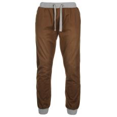 SoulCal Chino férfi gumis derekú pamut nadrág koptatott barna 3XL