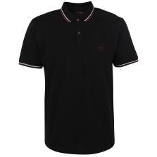 Firetrap Lazer Slim Fit férfi galléros póló fekete 3XL