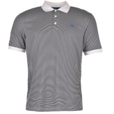 Dunlop Fine Stripe férfi galléros póló fehér 3XL