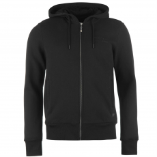 Firetrap Brunel férfi kapucnis cipzáras pulóver fekete 3XL