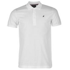 Kangol Slim Fit férfi galléros póló fehér 3XL