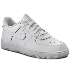 Nike Cipők NIKE - Force 1 (PS) 314193 117 White/White/White