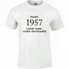 Tréfás póló 60 éves, Készült 1957... (M)