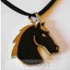 Lófej fekete háttérrel nyaklánc 3,2x3,5 cm