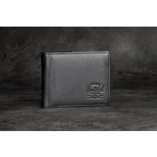 Herschel Supply Co. Hank Leather Wallet Black Pebbled Leather