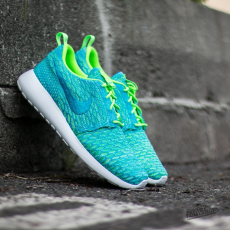 Nike Wmns Roshe One Flyknit Electric Green/ Blue Lagoon/ Glacier Ice
