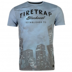 Firetrap Póló Firetrap Blackseal Night City fér.