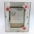Import Üveg fényképkeret rózsaszín pillangóval