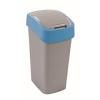 CURVER Billenős szelektív hulladékgyűjtő, műanyag, 50 l, CURVER, kék/szürke (UCF04)